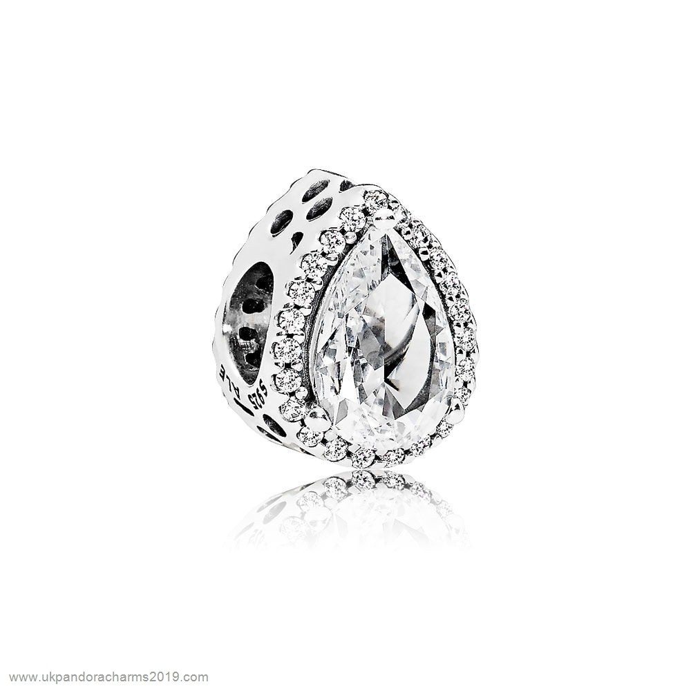 Pandora Shop Sale Pandora Passions Charms Chic Glamour Radiant Teardrop Charm Clear Cz