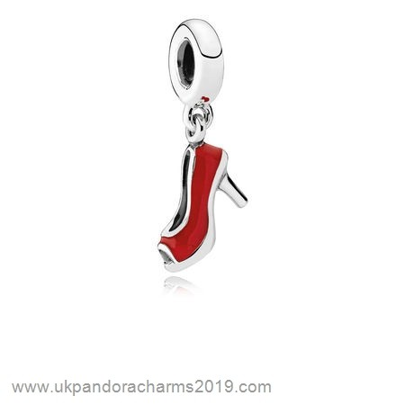 Pandora Shop Sale Pandora Passions Charms Chic Glamour Red Stiletto Pendant Charm Red Enamel