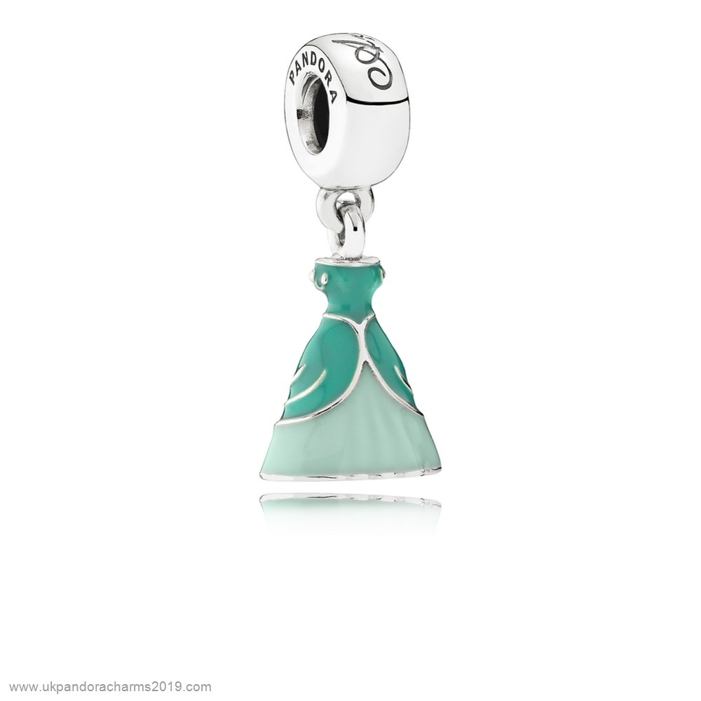 Pandora Shop Sale Pandora Disney Charms Ariel'S Dress Pendant Charm Mixed Enamel