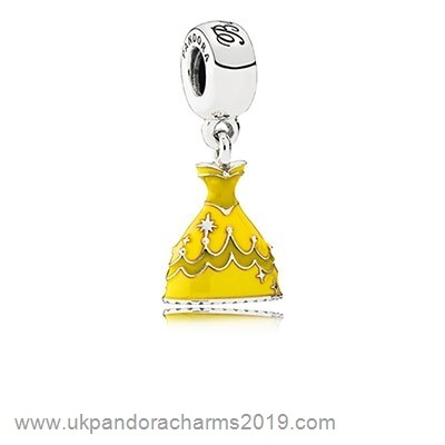 Pandora Shop Sale Pandora Disney Charms Belle'S Dress Pendant Charm Mixed Enamel