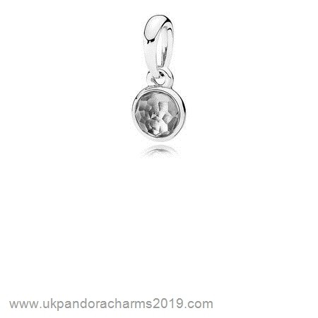 Pandora Shop Sale Pandora Pendants April Droplet Pendant Rock Crystal