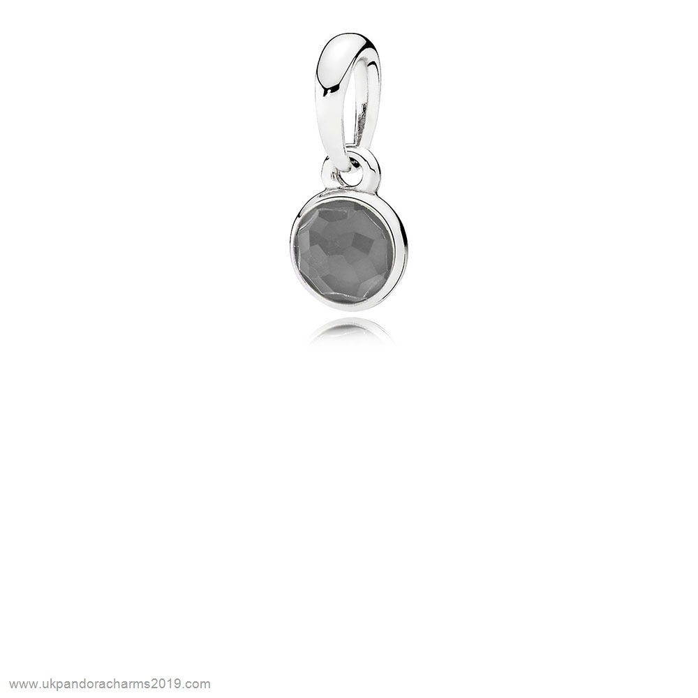 Pandora Shop Sale Pandora Pendants June Droplet Pendant Grey Moonstone