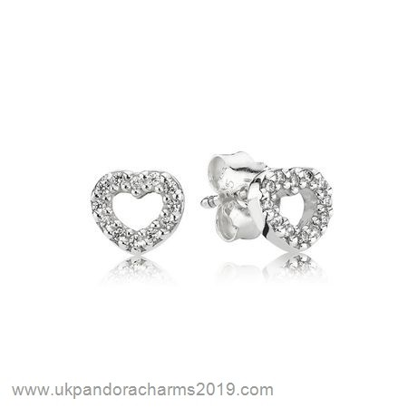 Pandora Shop Sale Pandora Earrings Be My Valentine Heart Stud Earrings Clear Cz
