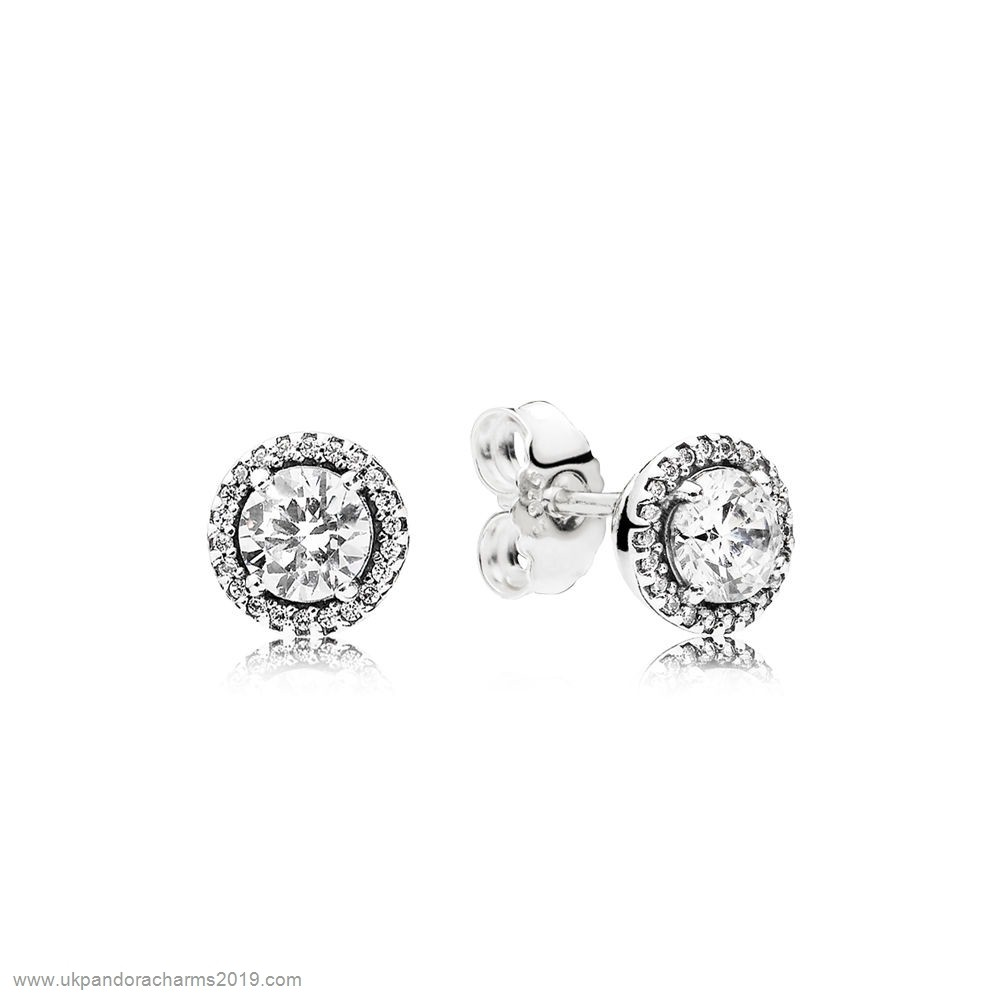 Pandora Shop Sale Pandora Earrings Classic Elegance Stud Earrings Clear Cz