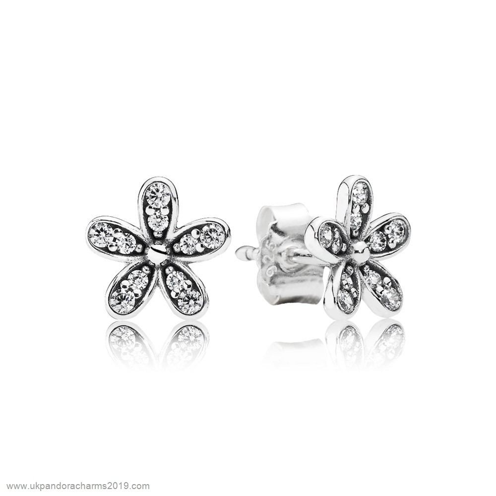 Pandora Shop Sale Pandora Earrings Dazzling Daisy Stud Earrings Clear Cz